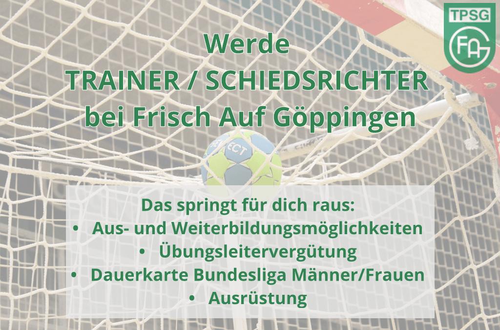 Werde Trainer / Schiedsrichter bei Frisch Auf Göppingen